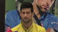 World number one tennis player Novak Djokovic gave a press conference on Sunday before beginning a busy season with the Qatar ExxonMobil Open in Doha