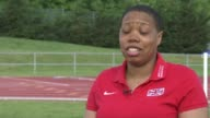 World Para Athletics Championships London 2017 Shotputter Vanessa Wallace interview ENGLAND London EXT Vanessa Wallace interview SOT/ Various of...