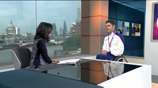 World Para Athletics Championship's medal manufacturers ENGLAND London GIR INT Toby Gold LIVE STUDIO interview SOT