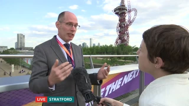 opening day LIVE ENGLAND London Stratford London Stadium EXT Niels De Vos interview SOT