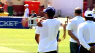 India squad training Sharma bowling in nets More of India squad practising in nets Harbhajan Singh bowling in nets Various Indian crciketers training