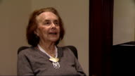 Holocaust Memorial Day Lilly Ebert interview ENGLAND London INT Lilly Ebert interview SOT discusses importance of Holocaust Memorial Day and her...