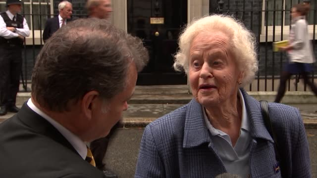 World War 'Canary Girls' who worked in munitions factories visit Downing Street Elizabeth Cross interview SOT re danger of working in WWII factories