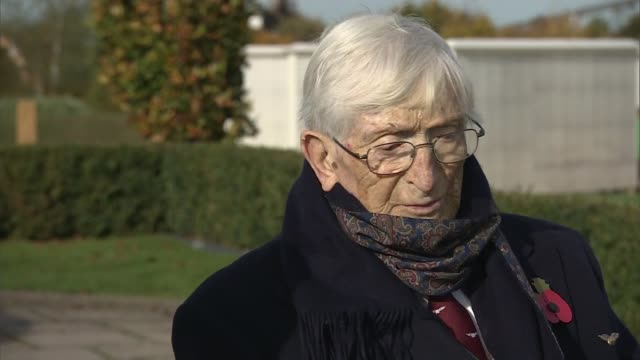World War 'Guinea Pig Club' memorial unveiled Dr 'Sandy' Saunders interview SOT CUTAWAY reporter