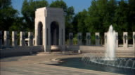MS, PAN World War II Memorial, Pillars and fountain, Washington DC, USA