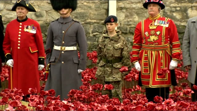 World War One Centenary Armistice Day commemorations Tower of London ceremony More of Last Post played SOT / Big Ben chiming as two minute silence...