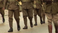 World War two Army Soldiers Marching in Parade