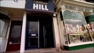 World's first betting shop millionaire ENGLAND Yorkshire Thirsk INT Screen in William Hill bookmaker's reading 'World's First Betting Shop...