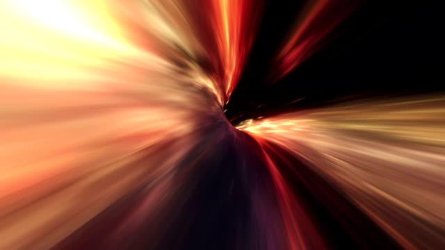 Wormhole space travel orange