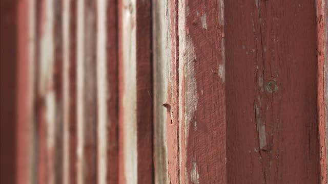 A worn house wall Huvudskar Stockholm archipelago Sweden.