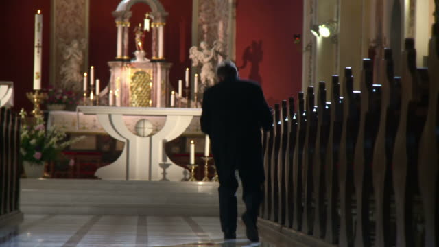 HD DOLLY: Worshipper Leaving The Church