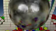 Wrecking ball color cubes