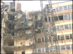 Wrecking ball demolishes housing project