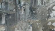 MS TD Wrecking ball demolishing building / Chicago, Illinois, USA