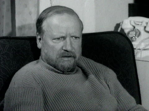 Writer William Golding talks about how he plans a new book