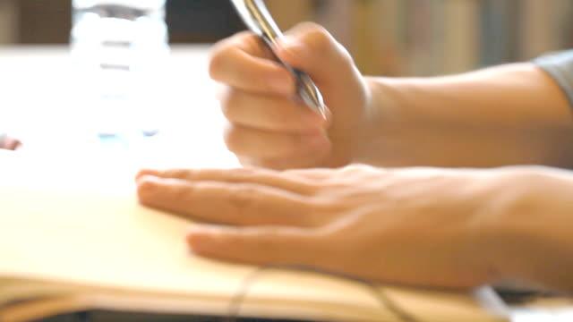 Schreiben auf notebook