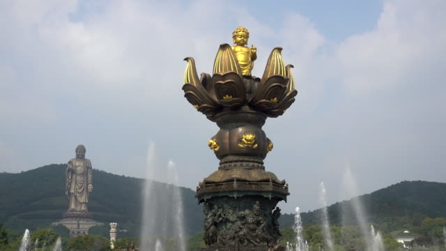 Wuxi lingshan great Buddha scenic area,Kowloon filling and bath