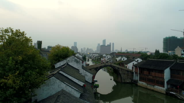 Wuxi qingqing bridge ancient canal scenic spot