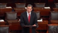 Wyoming Senator John Barrasso speaks in support of the nomination of Oklahoma Attorney General Scott Pruitt to be the Administrator of the...