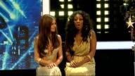 Alexandra Burke and Cheryl Cole press conference ENGLAND London INT Alexandra Burke and Cheryl Cole joint press conference SOT discuss Alexandra's...