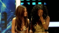 Alexandra Burke and Cheryl Cole press conference Joint press conference continued SOT/ television executive reads out phone vote percentages SOT