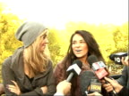 Factor finalists Alexandra Burke Diana Vickers and Laura White press conference SOT discuss reaching live finals of XFactor