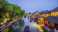 T/L WS HA Xitang Watertown Dusk to Night Transition / Jiashan, China