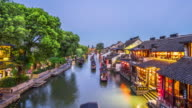 T/L WS HA ZO Xitang Watertown Dusk to Night Transition / Jiashan, China
