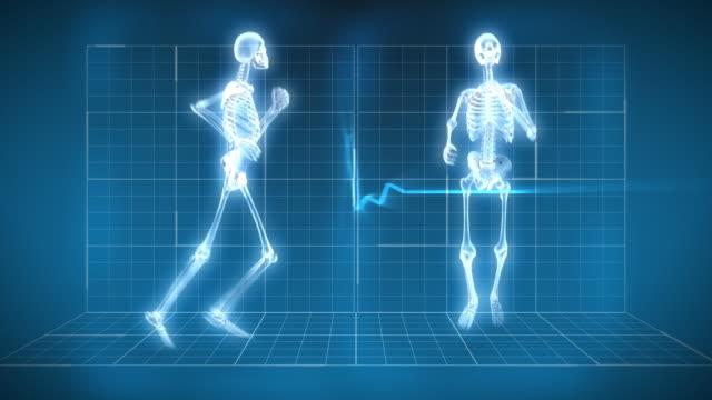Radiografia dello scheletro corsa