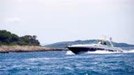 SLO MO Yacht Sailing Along The Coastline