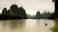 Yangshuo Karst Panorama in Guilin China