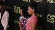 Yara Shahidi and Tracee Ellis Ross at HFPA And InStyle Celebrate The 2014 Golden Globe Awards Season at Fig Olive Melrose Place on November 20 2014...