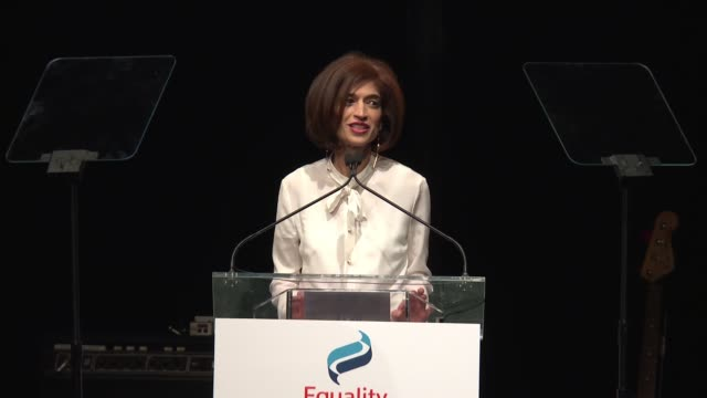SPEECH Yasmeen Hassan kicks off the evening at 2017 Equality Now Gala at Gotham Hall on October 30 2017 in New York City