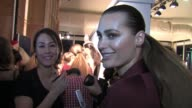 Yasmin Le Bon backstage at Issa London Fashion Show where she returned to the catwalk BACKSTAGE Yasmin Le Bon at BFC Showspace on February 19 2011 in...