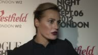 Yasmin Le Bon on being obsessed with broaches at Vogue Fashion Night Out at Westfield on September 06 2012 in London England