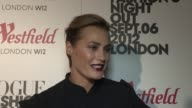 Yasmin Le Bon on sharing the runway with her daughter at Vogue Fashion Night Out at Westfield on September 06 2012 in London England