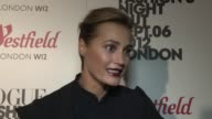 Yasmin Le Bon on watching the Olympics and practicing boxing in her family at Vogue Fashion Night Out at Westfield on September 06 2012 in London...