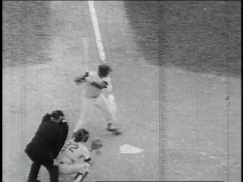Yastrzemski scores home run after Boston pitcher Jim Lonborg makes wild pitch during Red Sox vs Minnesota Twins American League pennant game / United...