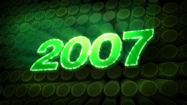 Year 2007 - Glitter Sparkle Text