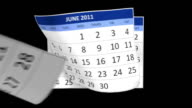 Year 2011 Calendar with alpha channel