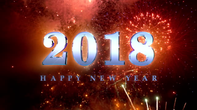 2018 års fyrverkeri i 4K slow motion