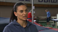 Yelena Isinbayeva speaks out against ban on Russian athletes Shows interior shots interview with Yelena Isinbayeva questioning why she has to suffer...