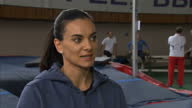Yelena Isinbayeva speaks out against ban on Russian athletes Shows interior shot Yelena Isinbayeva saying she is angry at the doping allegations...