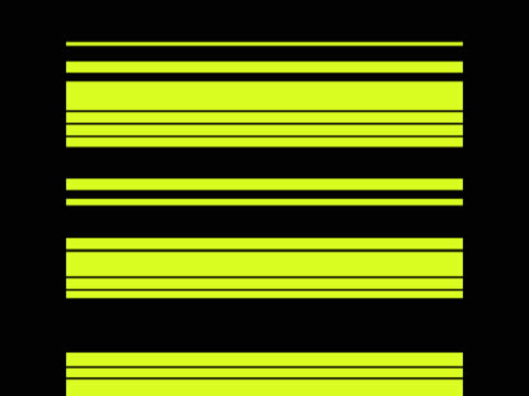 Yellow and white lines flashing on black background