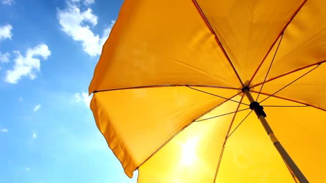 Yellow Beach Umbrella - Time Lapse