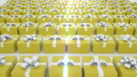 Yellow Gift boxes