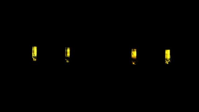 Gelbe led blinker