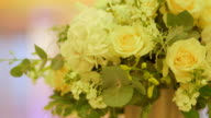 Yellow Roses On Wedding Day