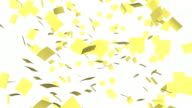 Yellow Sticky Notes Falling