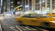 LAPSE Yellow Taxis outside Grand Central Terminal Madison Avenue Park Avenue Midtown Manhattan New York City USA TIME LAPSE Yellow Taxis Grand...